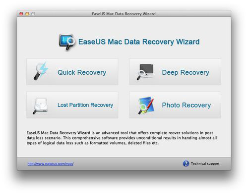 Ease US 「Data Recovery Wizard for Mac Free」