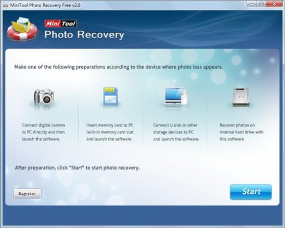 「Mini Tool Photo Recovery Free」